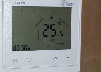 Infrafűtés termosztát vezérlés