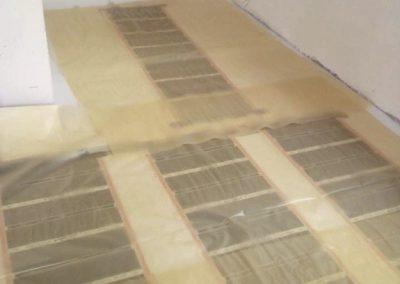 Telepített padlófűtés