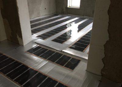 Infra padlófűtés telepítése