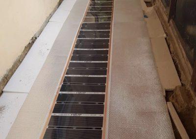 Jobbfólia padlófűtés telepítés